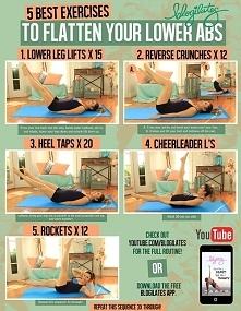 ćwiczenia na dolne mięśnie brzucha.