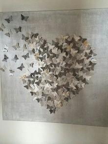 DIY- serce z motyli :)