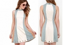 Piękna sukienka w pastelowy...