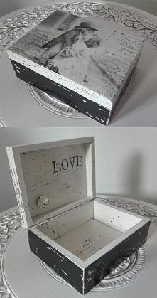 pudełko, decoupage