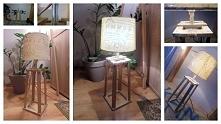 Lampka wykonana własnoręcznie, z dębu, z abażurem z pepco. Przy użyciu minima...