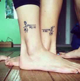 Siostrzany tatuaż / big and little sister