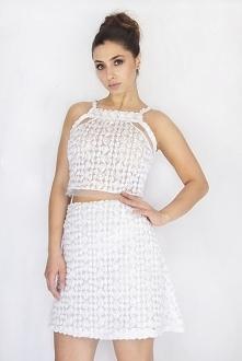 Idealny biały komplet w róże na wiosnę! Różany komplet, cena: 159,00 zł Bluzk...