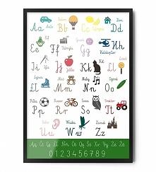 Plakat ALFABET (zielony)