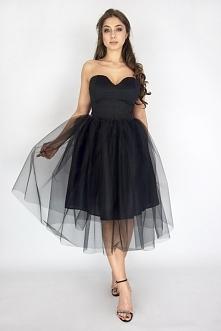 Sukienka na wesele! Audrey - klasyczna sukienka tiulowa w serduszko czarna w cenie promocyjnej 219,00 zł <3 <3 <3