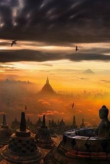 Świątynia Borobudur na Jawie, Indonezja