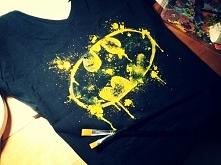 Koszulka ręcznie malowana z logo Batmana