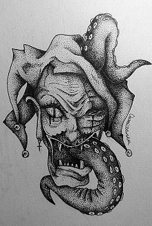 Joker mojego autorstwa, jak myślicie, ciekawy pomysł na tatuaż? ;)  technika: dotwork