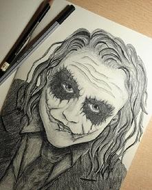 Joker w moim wykonaniu:) wzorowany na zdjęciu