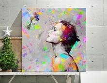 """Obraz na płótnie """"&Bird KOLOR"""" 100x100 cm"""