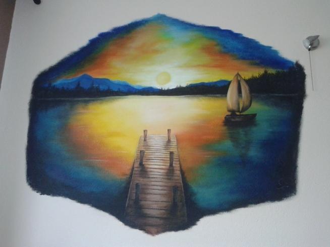 Obraz na ścianie, mojego autorstwa, inspiracja z internetu