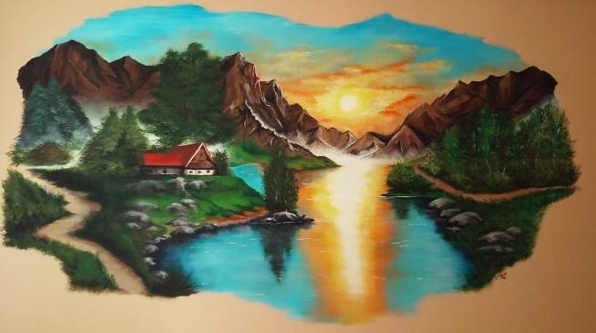 obraz akrylami na ścianie, własnego autorstwa-inspiracja z internetu
