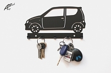 Fiat Seicento - wieszak na klucze - art-steel.pl