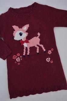 Fioletowy sweter/tunika. No...