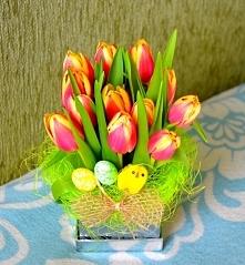moj pomysl na Wielkanocny flower box :)