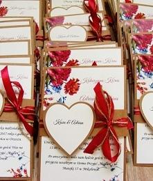 zaproszenia ślubne z serce ...