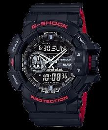 CASIO G-SHOCK GA-400HR-1AER to wytrzymały zegarek męski w stylu sportowym. Posiada stoper, alarm, datownik oraz podświetlenie ledowe dzięki któremu możemy odczytać datę, godzinę...