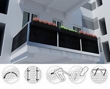 Osłona na balkon, ogrodzenie z technorattanu wygląda elegancko i jest bardzo ...