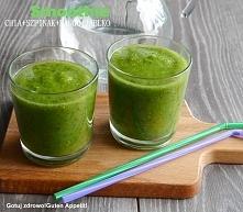Składniki na 2 porcje: pęczek szpinaku 1/2 jabłka 1/2 mango 1/2 szklanki galaretki z chia (sposób przygotowania : 30 gram nasion zalać szklanką wody ) 1-2 szklanki wody mineraln...
