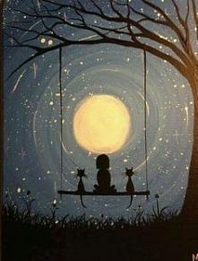lubię ciemność. Gdyby nie noc nie zobaczylibyśmy gwiazd <3