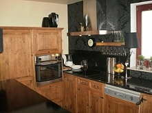 kuchnia rustykalna drewnian...