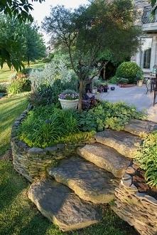 #garden #ogród #skałki #schody