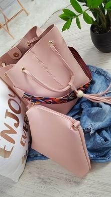 Mega pudrowa torba+kosmetyczka dostępne klik w link