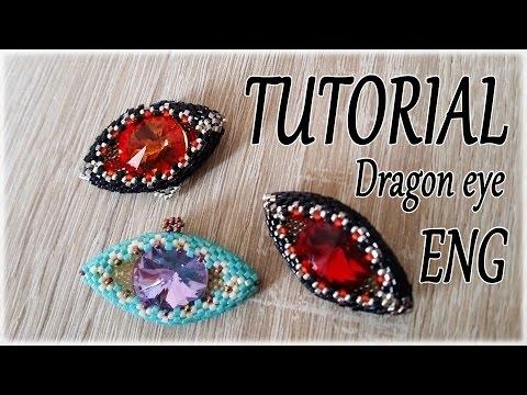 Dragon Eye Tutorial - How to make a Dragon eye with beads - Peyote stitch