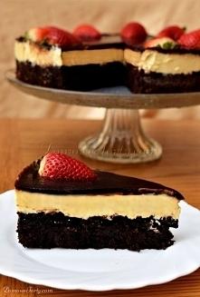 Brownie czekoladowe z masą serową Przepis na blogu domowetorty
