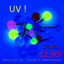 Wiosenna promocja nawet do -70% na wszystkie kolczyki do pępka!! UV w różnych kolorach!! Link w komentarzu :) Iron-lady.pl