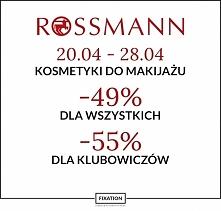 Jednak nieco inna rozpiska promocji w Rossmannie