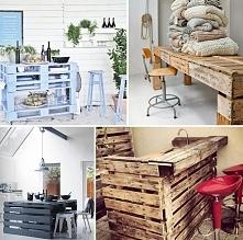 Niezwykłe meble i dodatki z palet - stoły i bary