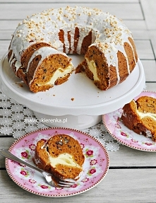 Ciasto marchewkowe z niespodzianką. Przepis po kliknięciu w zdjęcie.