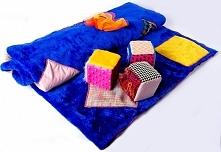 Dywan sensoryczny wykonany jest z miękkich i bezpiecznych materiałów, a niekt...