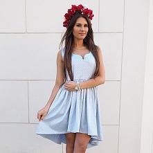 LAURA - Pastelowa sukienka asymetryczna w cenie: 159,00 zł www. sopsi.com.pl