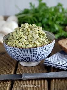 Pasta jajeczna z pieczarkami Przepis na blogu-wystarczy kliknąć w zdjęcie. Za...