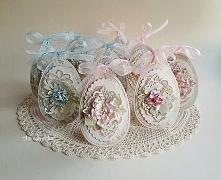 Wielkanocne jajeczka - zawieszki na torebki ze słodyczami
