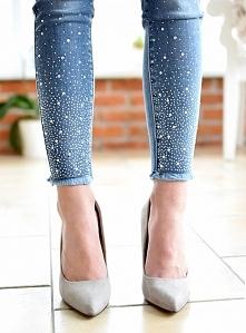 Jeansy kryształki MITI BACI. Ottanta - sklep online