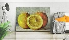 Obraz owoce malarstwo: Owocowy print na obrazie wprowadzi do wnętrza bogatą paletę kolorów, które odświeżą stylizację.