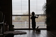 Żaluzje Bambusowe w kolorze Imbir.  Zdjęcie: Julia Rozumek Żaluzje: Nasze Dom...