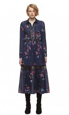 Self Portrait Plum Blossom Shirt Dress