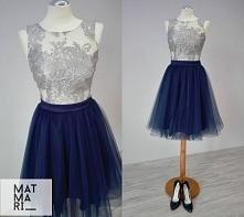 Piękna sukienka z koronki i tiulu