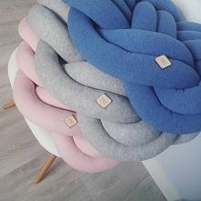 Poduszki supełki, knot pillow, pastele, dodatki handmade, wystrój wnętrz