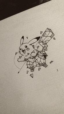 mój nowy Pikachu ^^ uwielbiam rysunki w tym stylu