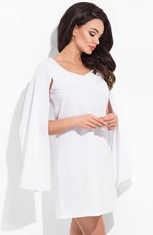 Cocoviu New York sukienka biała Zjawiskowa sukienka, prosty i kobiecy fason, ...