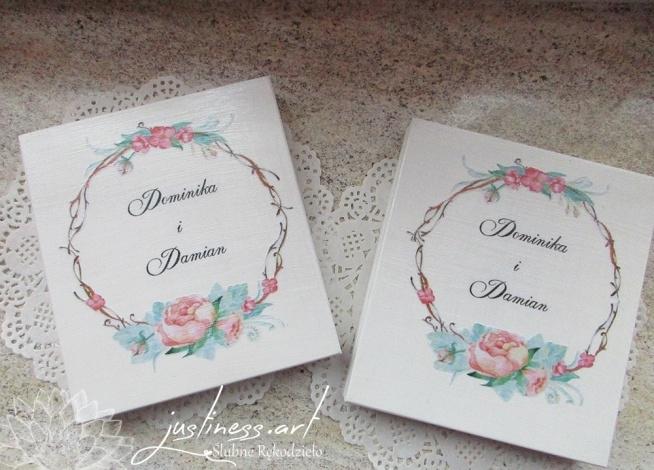Pudełka Z Zaproszeniem I Prośbą O Błogosławieństwo Dla Rodziców Na