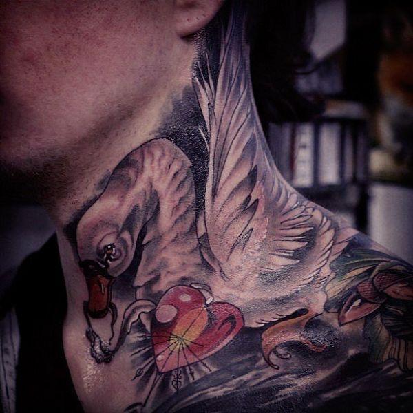 Tatuaże 3d łabędź Na Szyi Na Tatuaże Zszywkapl