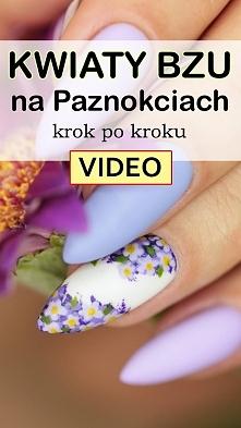 WIOSENNE Kwiaty Bzu na Paznokciach Krok po Kroku [VIDEO]