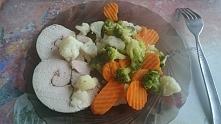 warzywa gotowane na parze i...