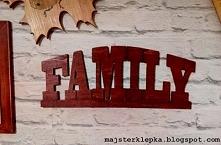 Family - napis na ścianę